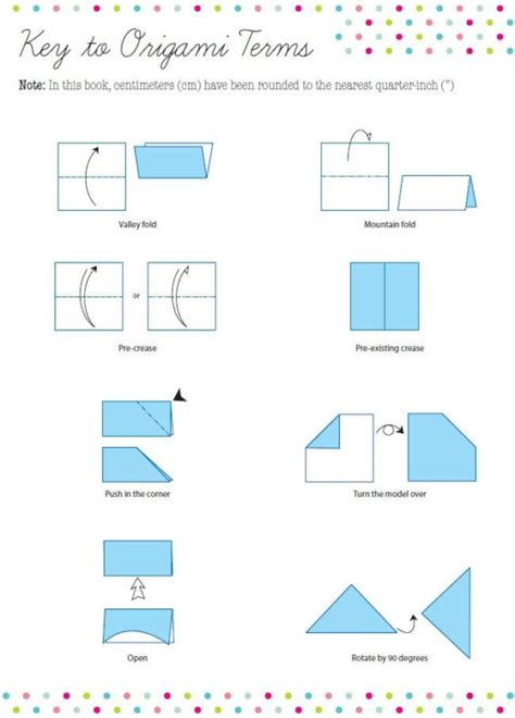 Origami Terminology - free coloring pages origami terms 101 coloring pages