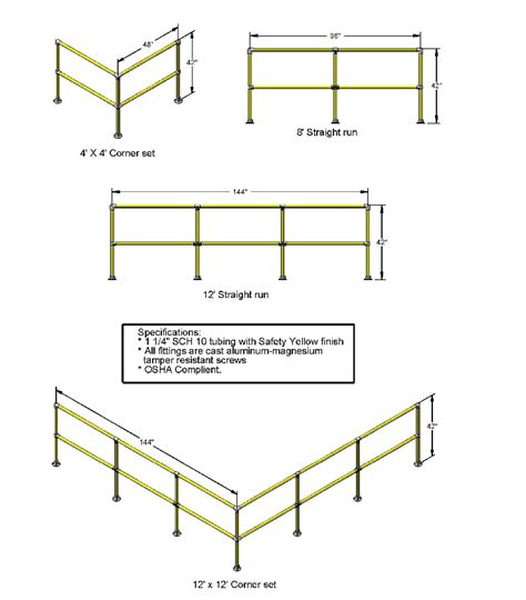 Osha Regulations For Handrails warehouse handrail safety railing