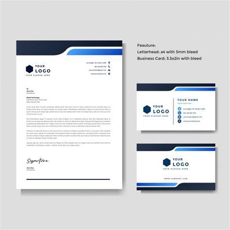 professional creative letterhead business card