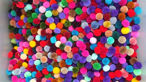 colored cotton balls 200 handmade pom poms beautiful mixed colors yarn pom poms