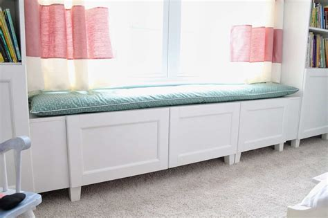 ikea hack window bench and shelf for the home pinterest 15 cool and clever ikea hacks little red window
