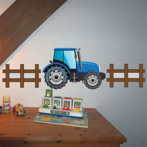 tractor wall stickers jaf graphics personalised tractor wall sticker