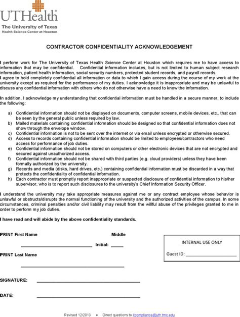 Acknowledgement Letter Of Agreement contractor confidentiality agreement free