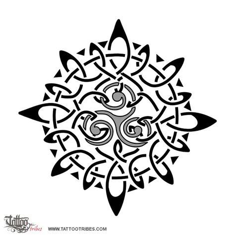 celtic sun tattoo of sun and triskell eternity custom