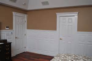 wainscoting beadboard with raised panel headboard traditional bedroom new york by