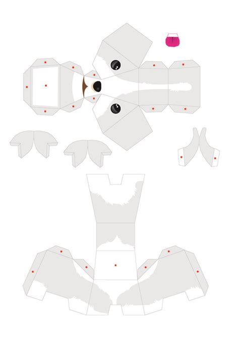 Free 3d Papercraft Templates - perritos 3d para imprimir y armar gratis tarjetas