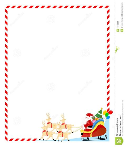 free printable santa letter borders santa claus border clipart