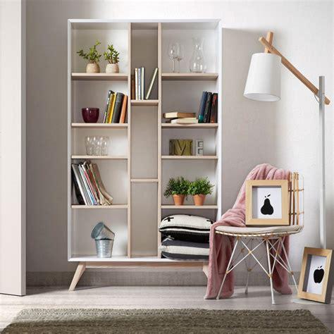 Bibliotheque Design by Biblioth 232 Que Design Blanche Et Bois De Fr 234 Ne Josh By Drawer