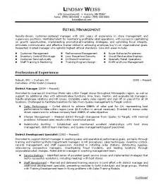 Exles Of Retail Resumes For Retail Store by Retail Page Retail Management Retail Manager Resume