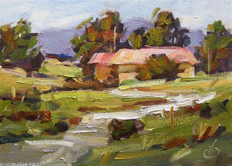 tom brown 5x7 impressionist landscape original