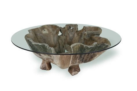 irregular shaped coffee table teak root coffee table with glass top for