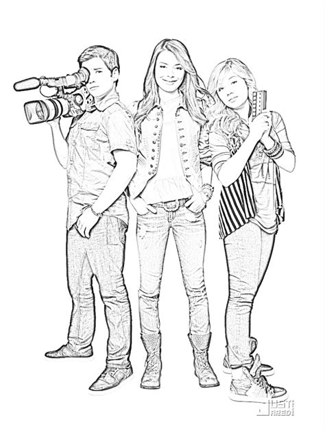 coloring pages of sam and cat icarly coloring pages coloring home
