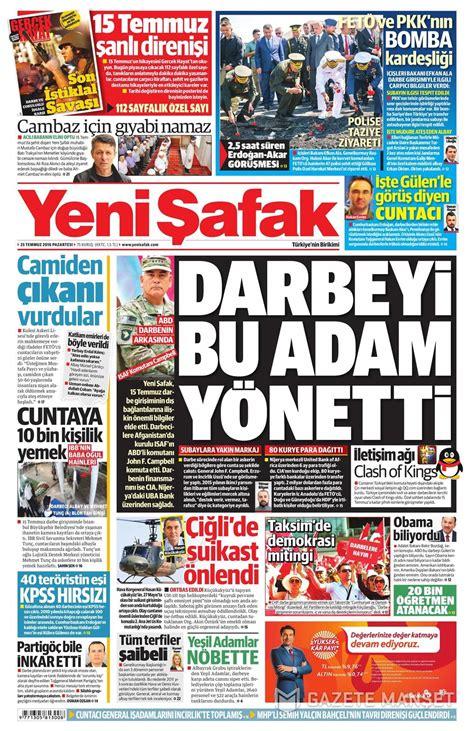 gazeteler gazete oku gazete haberleri gazete siteleri gazeteler ve gazete manşetleri 25 temmuz gazete oku