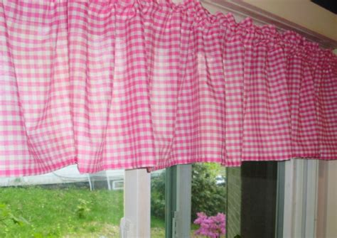 pink gingham curtains hot pink fuchsia gingham kitchen caf 233 curtain unlined or