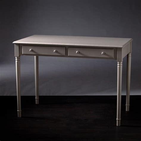 southern enterprises writing desk southern enterprises janice 2 drawer writing desk in gray
