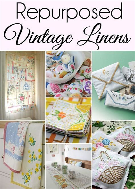 Home Accessories From Vintage Linens by 15 Ways To Repurpose And Upcycle Vintage Linens