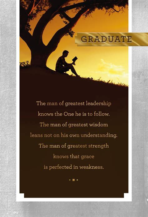 Be Strong and Courageous Religious Graduation Card