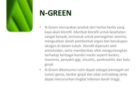 Hpai N Green Klorofil pengetahuan produk n green hpai