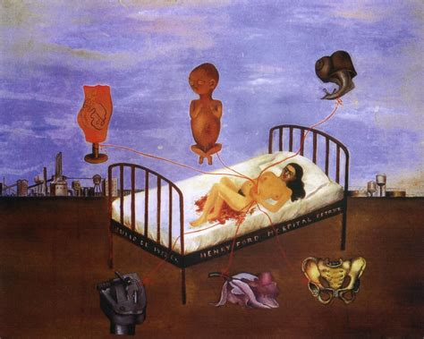 Flying Bed by Henry Ford Hospital Painting By Frida Kahlo