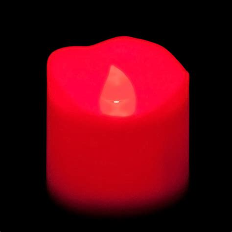 battery operated led votive candle red flame