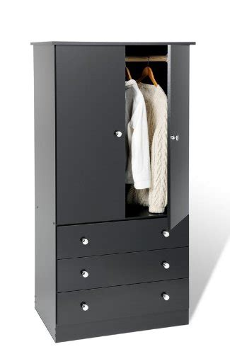 Wardrobe With 3 Drawers by Junior Wardrobe With 3 Drawers Black Prepac Prepac