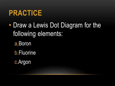 lewis dot diagram of boron bohr rutherford and lewis dot diagrams ppt
