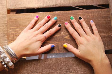 multi colored nails multi colored nails