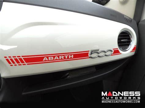 fiat 500 abarth dash decal racing stripe fiat 500