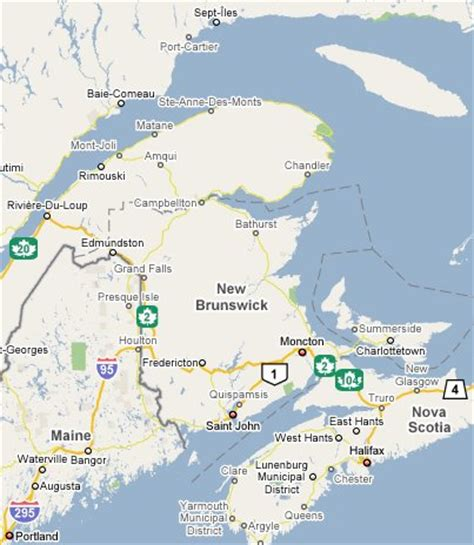 map of maine usa and new brunswick canada map of maine and new brunswick swimnova