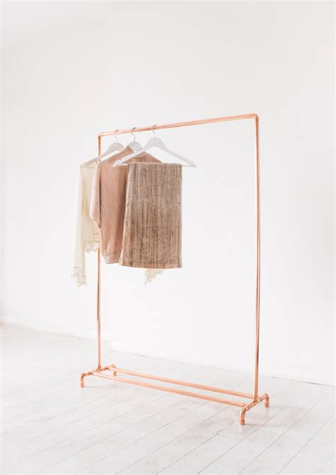 Pipe Garment Rack by Copper Pipe Clothing Rail Garment Rack Clothes Storage