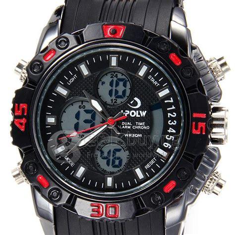 Led Sport Watches Aa W027 hpolw 610 led big analog digital quartz sport for