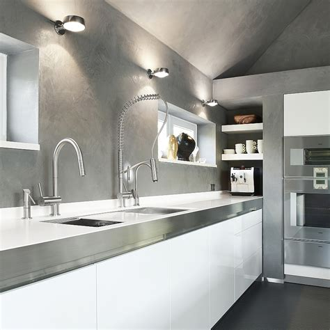 Exquisite Kitchen Faucets Merge Italian Design With Stainless Steel Kitchen Designs