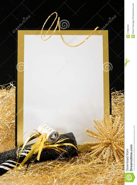 black and gold new years black and gold new year s invitation stock images