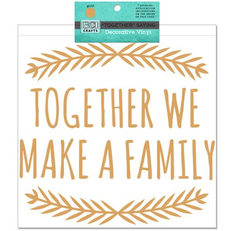 Industrial Home Decor Wholesale Vinyl Together We Make A Family Saying Gold