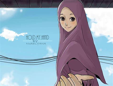 anime islam hold my hand islam niqabi and proud pinterest