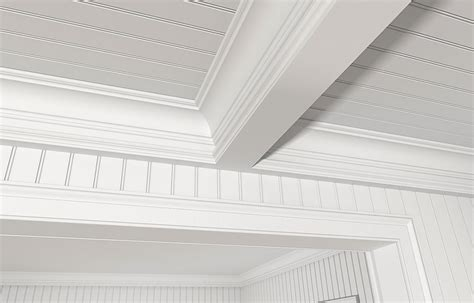 coffered ceiling with beaded raised inner panel bedroom stock beaded sheet products garden state lumber