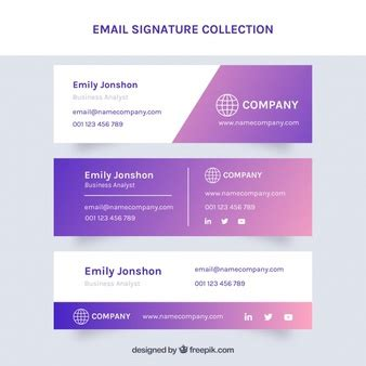Email Signature Vectors Photos And Psd Files Free Download Psd Email Signature Template