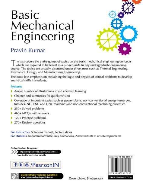 basic mechanical engineering books free back cover basic mechanical engineering book