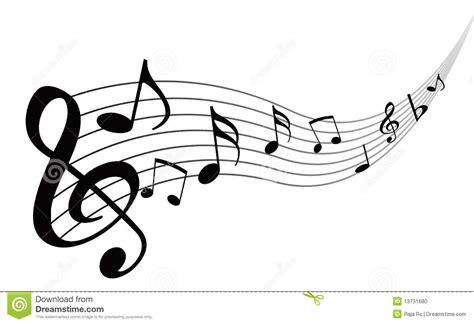 imagenes en blanco y negro de notas musicales notas de la m 250 sica ilustraci 243 n del vector ilustraci 243 n de
