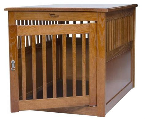 dog house end table wood dog crate pen pet house end table kennel puppy 2