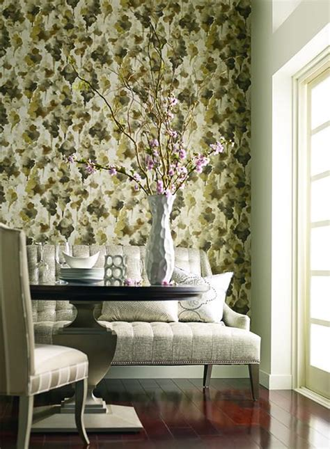 york wallcoverings home design center mirage wallpaper in brown design by candice olson for york