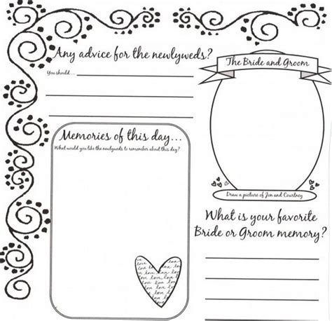wedding book template leaving their weddingbee