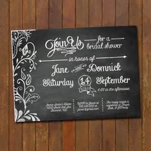 chalkboard invitations template 26 wedding shower invitation templates free sle