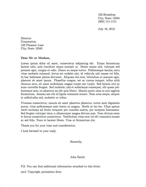 a proper letter format exle business templated business templated