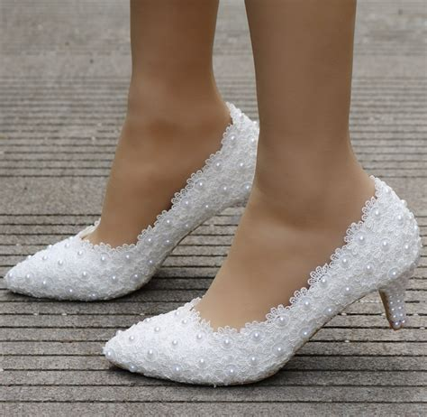 An Heels 5cm aliexpress buy small heel white lace wedding shoes