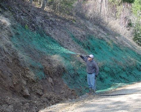 steep slope erosion control over roadway