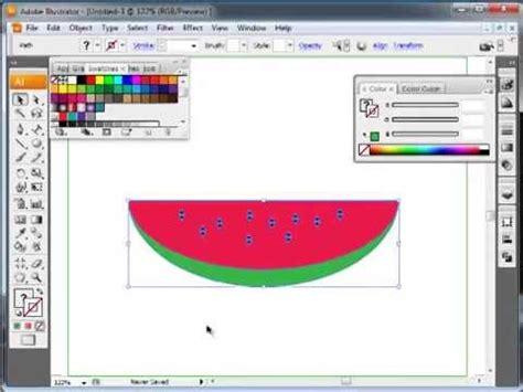tutorial illustrator pemula menggambar buah semangka dengan adobe illustrator cs3