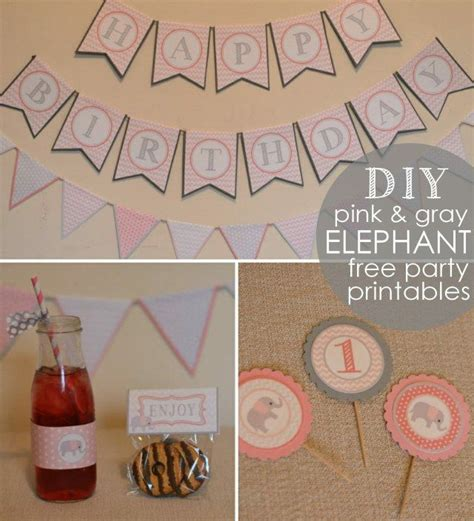 Pink And Gray Elephant Baby Shower Decorations by Free Pink Gray Elephant Printables S Baby Shower