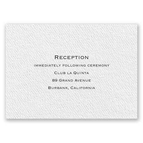 Wedding Invitation Card Reception by Textured White Reception Card Invitations By