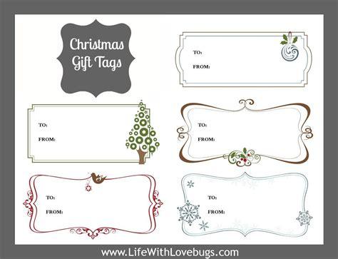 christmas gift tags printable life with lovebugs